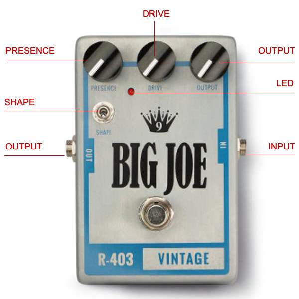 Big Joe Raw Series R-403 Vintage Tube guitar effects Overdrive