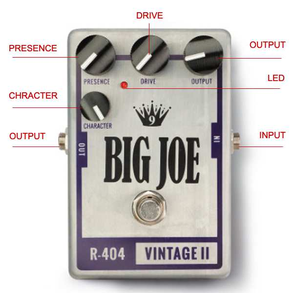 Big Joe Raw Series R-404 Vintage Tube 2 guitar effects Overdrive