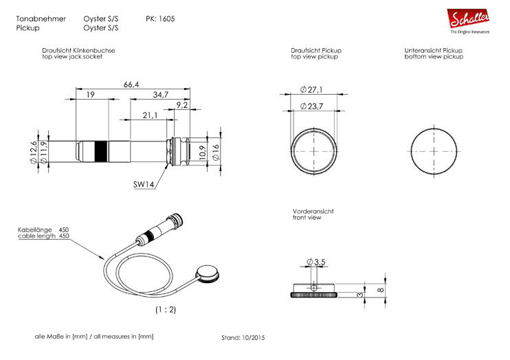 Pickup Oyster technical drawing