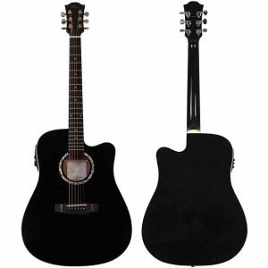 Acoustic Guitar Duke Dreadnought MC Black Cutaway