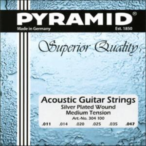 Acoustic Guitar Strings Pyramid Silver Plated Superior Quality Medium