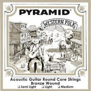 Acoustic Guitar Strings Pyramid Western Folk Roundcore Bronze