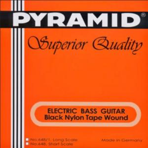 Bass Guitar Strings  Pyramid  Black Tape Nylon Short Scale