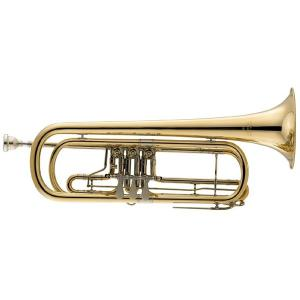 Bb Bass Trumpet Miraphone 237 100 Gold Brass laquered