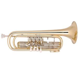 Bb Bass Trumpet Miraphone 37 411 100 Gold Brass laquered