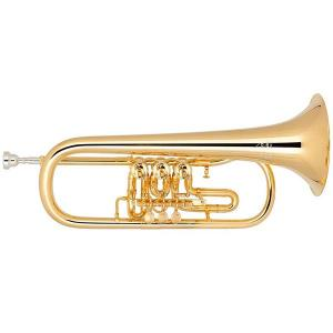 Bb Flugelhorn Miraphone 24R Gold Brass gold plated