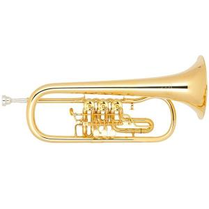 Bb Flugelhorn Miraphone 24R 1101A 100 Gold Brass gold plated