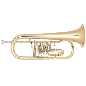 Bb Flugelhorn Miraphone 25 1100A 100 Gold Brass laquered