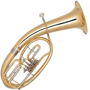 Bb Tenor Horn with 3 rotary valves Miraphone - 47 Gold Brass laquered