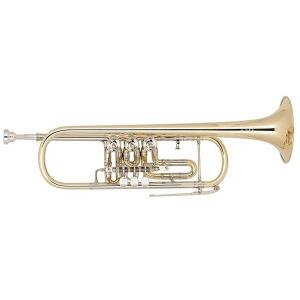 Bb Trumpet with 3 rotary valves Miraphone 9R Yellow Brass laquered