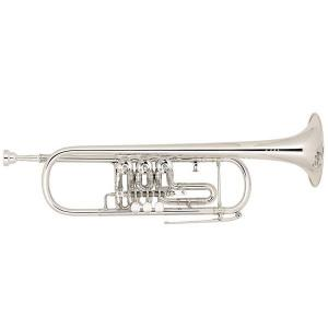 Bb Trumpet with 3 rotary valves Miraphone 9R Yellow Brass silver plated