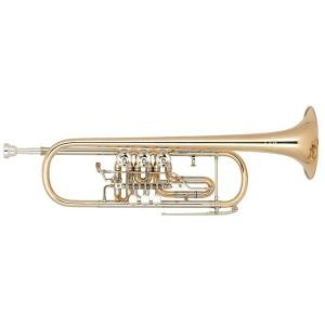 Bb Trumpet with 3 rotary valves, trigger Miraphone 9R Gold Brass