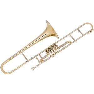 Bb Trombone with 4 rotary valves Miraphone 58W4 Gold Brass