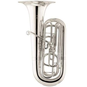 BBb Tuba Miraphone 12724 silver plated