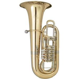 F Tuba with 5 rotary valves B&S 3099/1/WG-L PT-11 gold brass