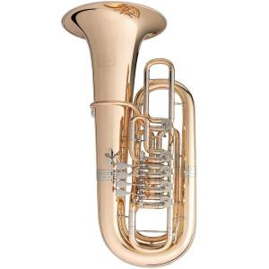 F Tuba with 5 rotary valves B&S 3099/2/WG-L PT-10 gold brass