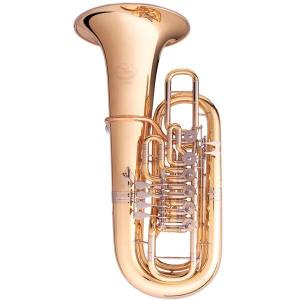 F Tuba with 6 rotary valves B&S 3100/WG-L PT-12 gold brass