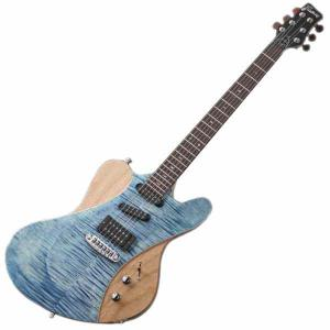 Framus Guitar Idolmaker Five R Bleached Blue Transparent High Polish/Satin Side and Back
