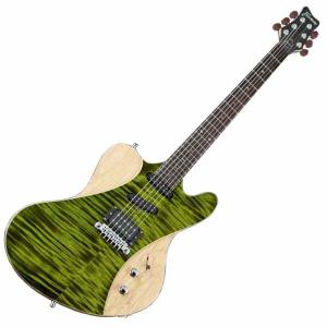 Framus Guitar Idolmaker Five R Emerald Green Transparent High Polish/Satin Side and Back