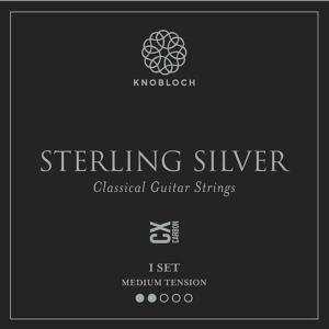Strings for Classical Guitar Knobloch Sterling Silver Line 300SSC Medium Tension Sterling Silver Carbon CX
