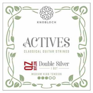 Strings for Classical Guitar Knobloch Actives 400ADQ Medium-High Tension Double Silver Nylon Q.Z.