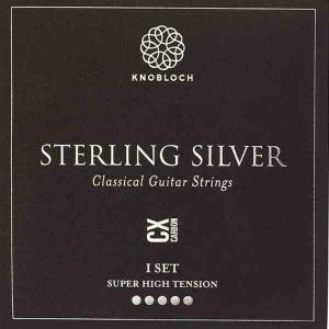 Strings for Classical Guitar Knobloch Sterling Silver Line 600SSC Super High Tension Sterling Silver Carbon CX