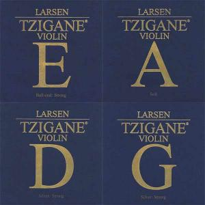 Larsen Tzigane Violin Strings Set, E -Ball