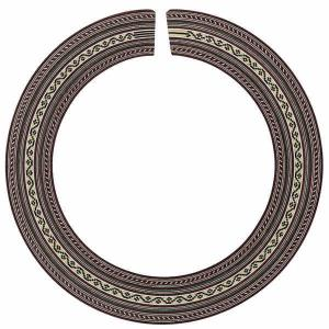 Rosette for Guitar Inner diameter 93-94 mm Width 19,5 mm