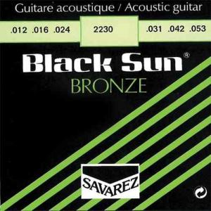 Strings for Acoustic Guitar Savarez Black Sun Bronze 2230