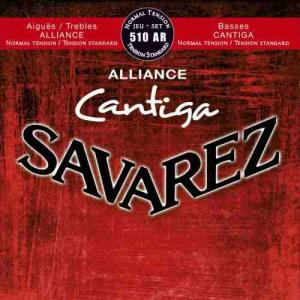 Strings for Classical Guitar Savarez Alliance Cantiga 510 AR Normal Tension