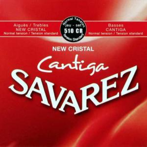 Strings for Classical Guitar Savarez New Cristal Cantiga 510 CR Normal Tension