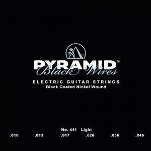 Strings for Electric Guitar Pyramid Black Wires