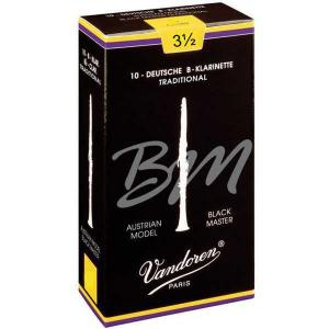 Vandoren Black Master Traditional CR1835T Reeds for Austrian Bb clarinet - 3,5