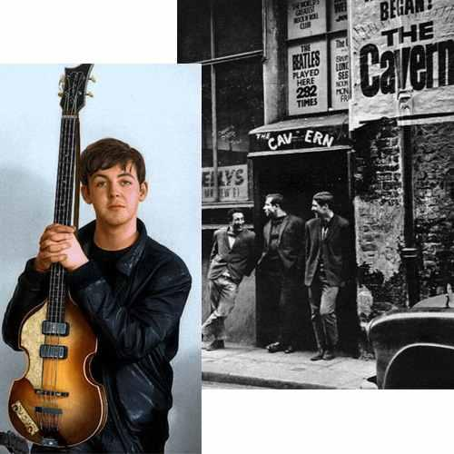 Paul McCartney With Hofner 500 1 Violin Bass The Caver Club